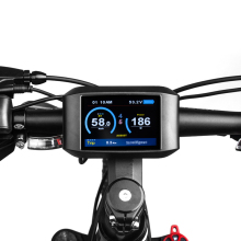 E-bike TFT LCD 750C Display Speed Battery Time Indicator For Bafang Mid Hub Motor Motor