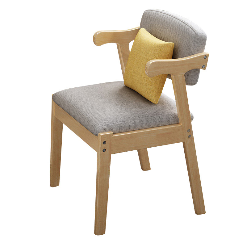 Image 5 - Home Dining Chair Fabric Cushion Side Chairs Modern Kitchen Wood Frame Chairs with Soft Seat Household Dining Side Chair-in Cleaning Brushes from Home & Garden