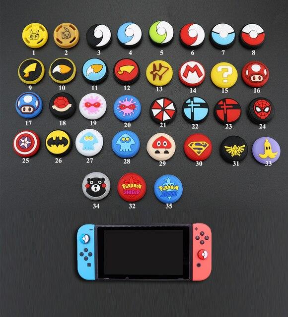 Mix 35 farben Silikon Analog Thumb Stick Griffe Kappen für Nintend Schalter NS JoyCon Controller Sticks Kappe Haut Freude Con abdeckung