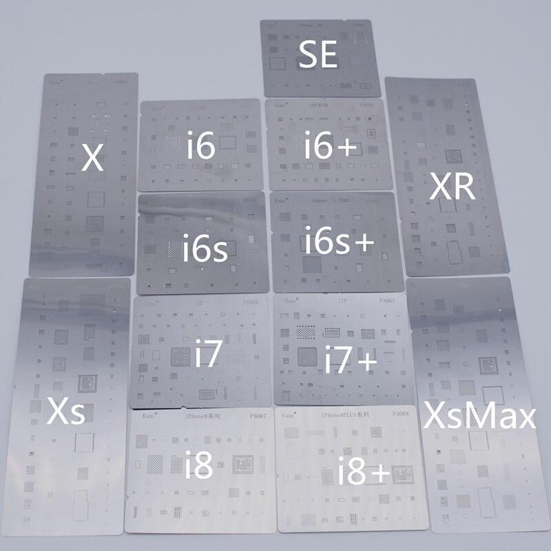 13 pçs/lote conjunto completo bga reballing estêncil dedicar kit para iphone x xs max xr 6 s 7 plus 8 se