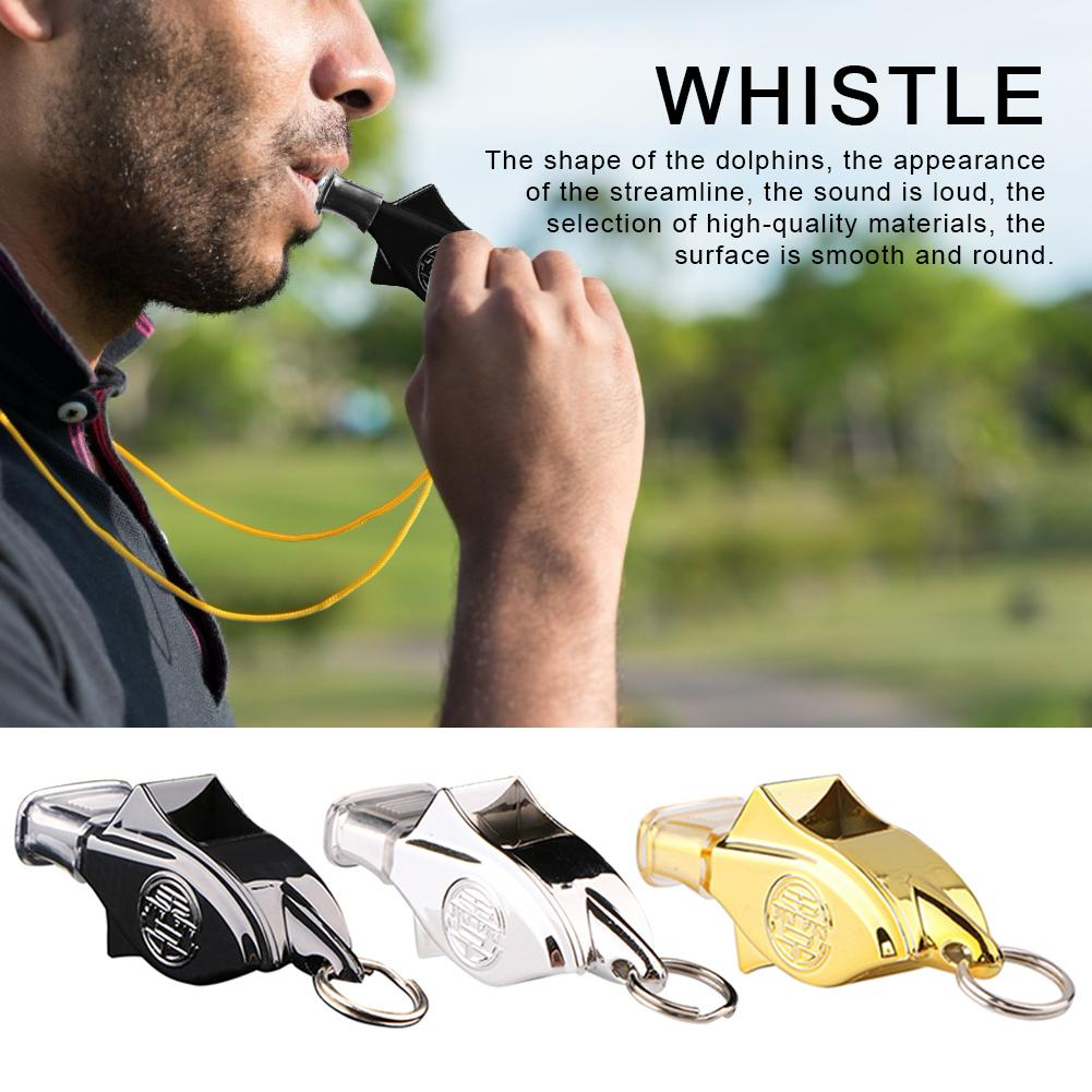 130 Decibels High Frequency Dolphin Whistle Outdoor Sports Basketball Football Training Match Referee Whistle Cushioned Mouth