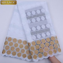 African Lace Fabric 2020 High Quality Swiss Voile Lace In Switzerland African Swiss Lace Materials African Dresses 5 Yards A1760 cheap SJD Lace Embroidered 100 Cotton 1758 Rhinestones Yes( 50 Pcs) 120 CM Eco-Friendly Water Soluble As Picture Party Wedding Garment