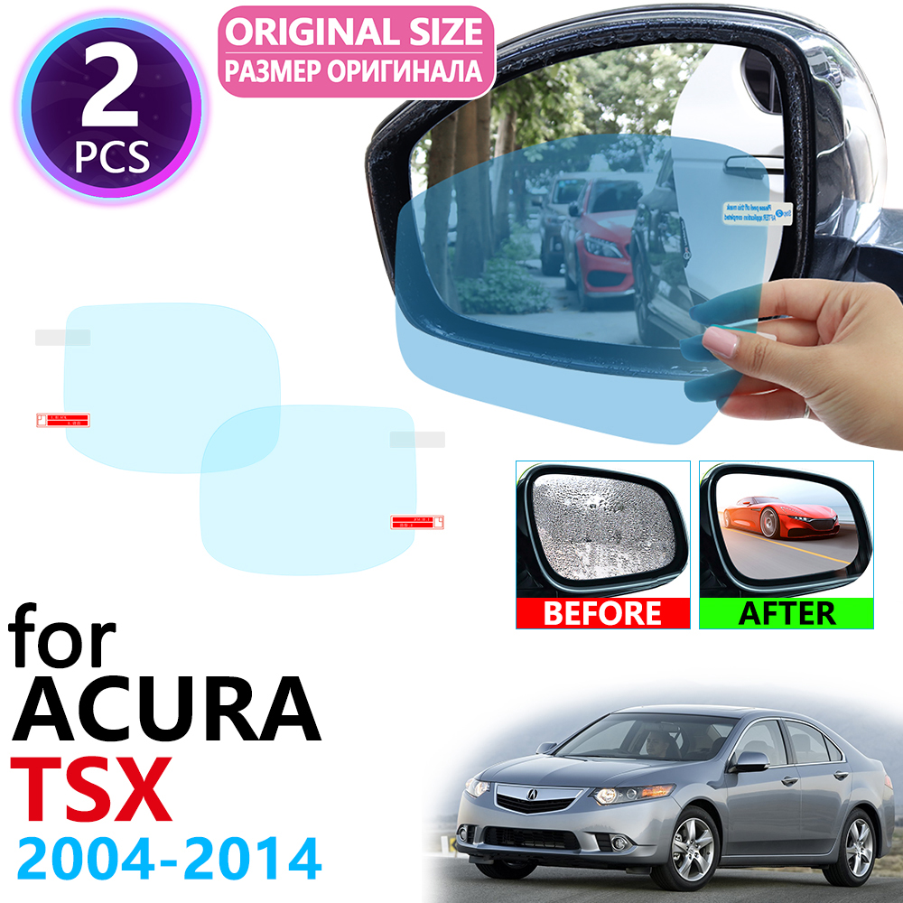 for <font><b>Acura</b></font> <font><b>TSX</b></font> CL9 CU2 2004~2014 Full Cover Rearview Mirror Anti-Fog Rainproof Anti Fog Film Car Accessories <font><b>2006</b></font> 2009 2011 2013 image