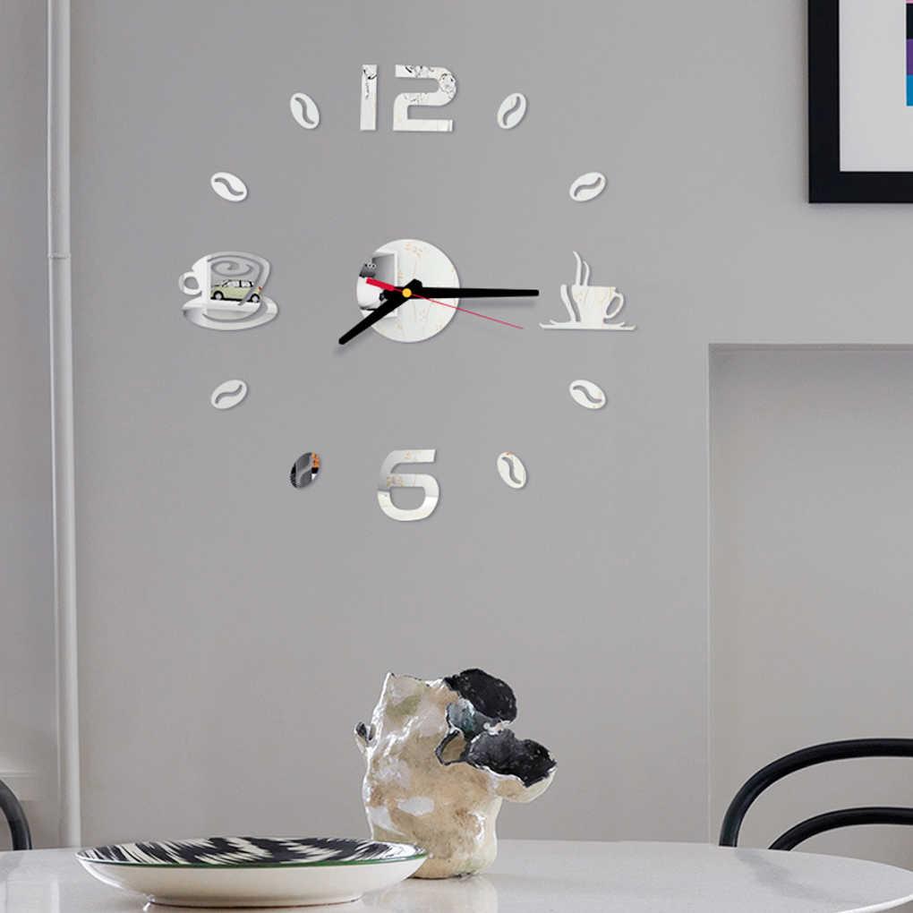 Samoprzylepne zegary ścienne 3D DIY lustro akrylowe naklejki dekoracja do domu do sypialni wystrój salonu
