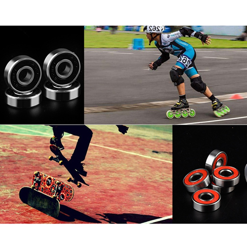 NEW! Skater Bearings Skate Skating Rolling Skateboard Longboard Bearing Durable Thick Skate Bearings Roller Skate Shoes Scooter