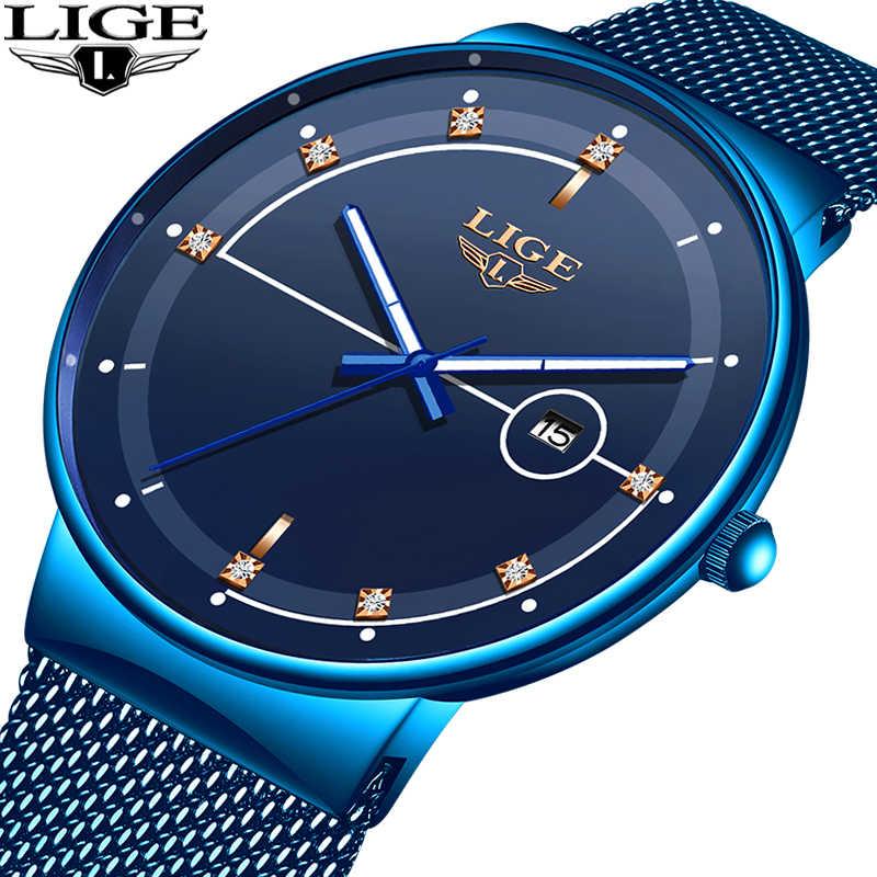 Homme Ultra mince montre 2019 chaude hommes montres de luxe marque cadeau mâle horloge affaires Quartz montre-bracelet pour hommes Relogio Masculino