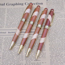 (12 Pieces/Lot) Wood Ball Ballpoint Pens Luxury Business Supplies Creative Office School Gift Writing Joy Corner