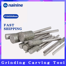 5 teile/satz 3*3/4/5/6/8mm Schaft Durchmesser 3mm Zylindrischen Graphit stange Poliert Diamant Schleifen Nadel Schleifen Carving Werkzeug A003