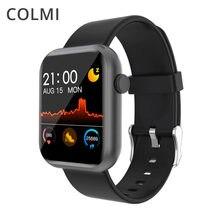 Colmi p9 relógio inteligente homem built-in jogo ip67 à prova dip67 água rastreador de fitness monitor de freqüência cardíaca mulher smartwatch para ios android telefone