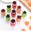 Stern Herz Form Gemüse Cutter Kunststoff Griff 3Pcs Tragbare Kochen Werkzeuge Edelstahl Obst Schneiden Sterben Küche Gadgets