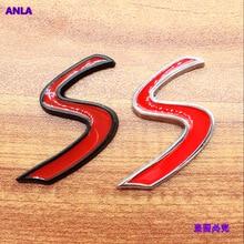 цена на 1pcs 3D S logo Car Stickers Rear Trunk Tail Emblem for Mini Cooper S R55 R56 R57 R58 R59 R60 R61 F54 F55 F56 F60 Accessories