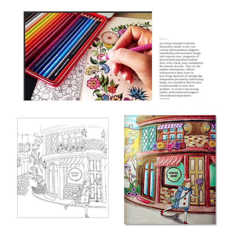 English Version 24 Pages Time Travel Lost Ocean Coloring Book Mandalas Flower For Adult Relieve Stress Drawing Art Books