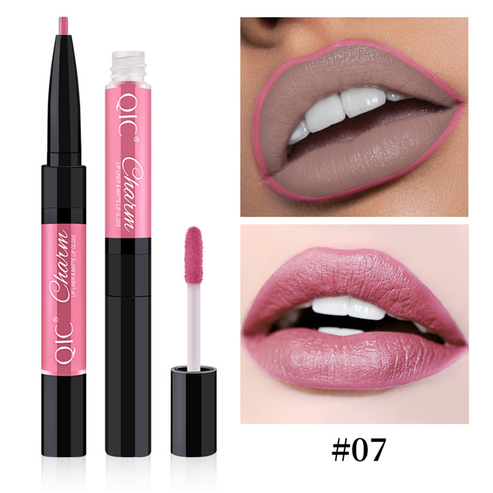 New Double-head <font><b>Lip</b></font> liner And <font><b>Lipstick</b></font> <font><b>Lip</b></font> Glaze <font><b>Sets</b></font> 12 Colors Waterproof Lasting Women Easy To Wear <font><b>Lipstick</b></font> <font><b>Makeup</b></font> Cosmetics image