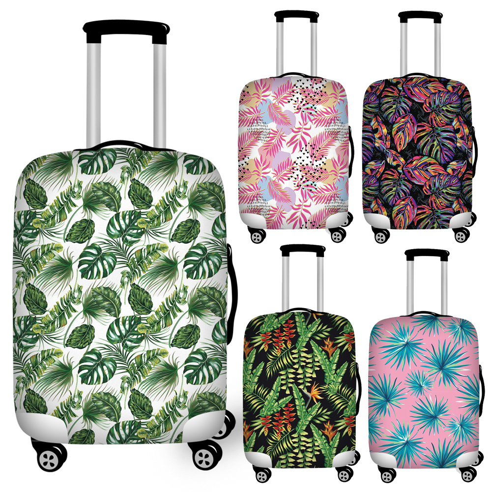 Zipper Closure Tropical Leaves Luggage Protective Dust Covers Elastic 18/20/22/24/26/28/30/32 Suitcase Cover Travel Essentials