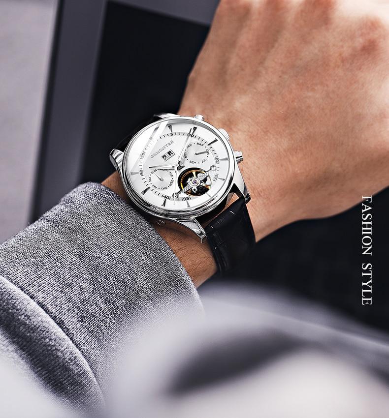 Hc56db3423c6842629823a741d1b243a10 Skeleton Tourbillon Mechanical Watch Men Automatic Classic Rose Gold Leather Mechanical Wrist Watches Reloj Hombre 2018 Luxury