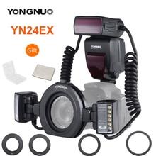 YONGNUO YN24EX YN24 EX Macro Ring Flash E TTL Flash Speedlite with 2pcs Flash Heads 4pcs Adapter Rings for Canon EOS Cameras 5D3