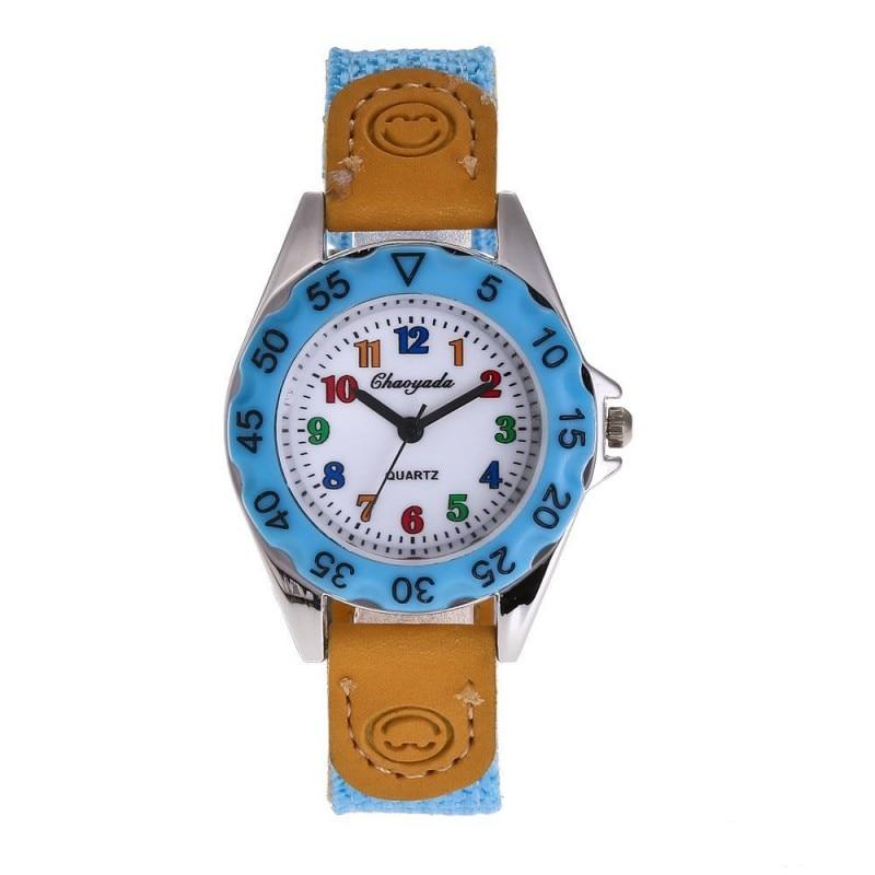 New Arrival Fashion Canvas Electronic Kids Watch Children Girls Boys Students Quartz Wristwatch Watches Relogio Feminino