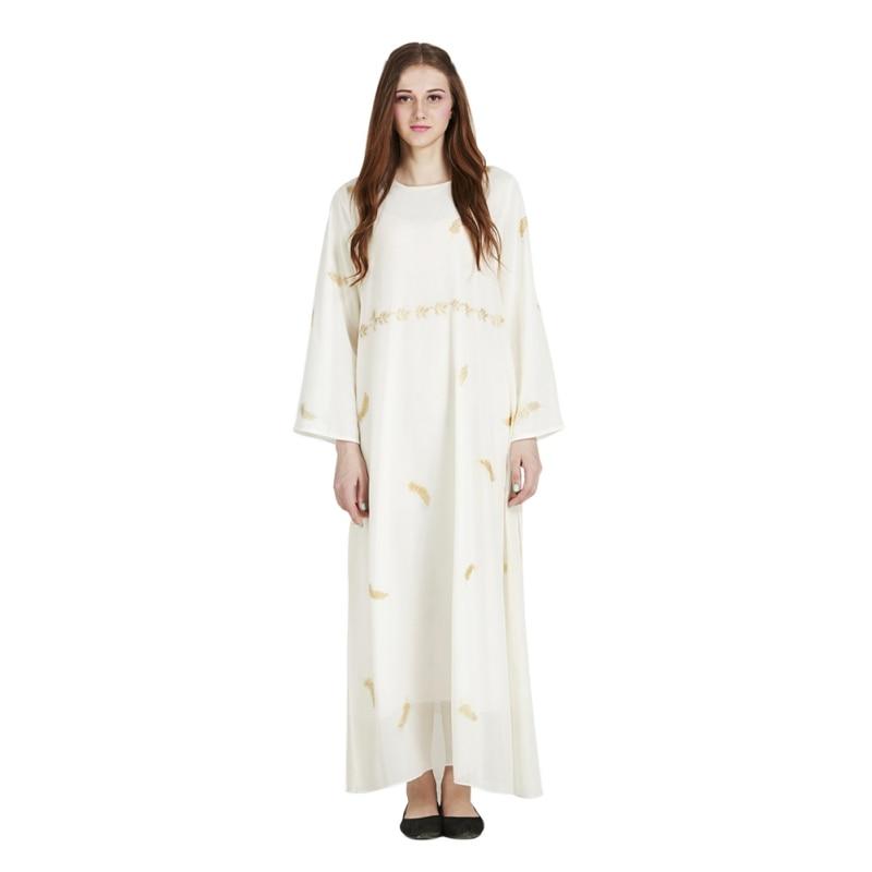 Muslim Maxi Dress Chiffon Abaya Middle East Long Robe Gowns Moroccan Dubai Ramadan Arab Worship Islamic Paryer Clothing