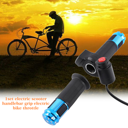 Aluminium Alloy LED Display Twist Accessories Accelerator Electric Bike Use For Scooter Handle Speed Control Throttle Grip