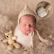 Newborn Photography Wrapped Cloth Props Infant Photo Shoot Posing Tools Baby Wrap Pads Protect Arms Legs(China)