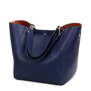 Image 5 - Women Leather Handbags Big Women Bag 2PCS/Set High Quality Female Bags Trunk Tote Ladies Large Shoulder Bag