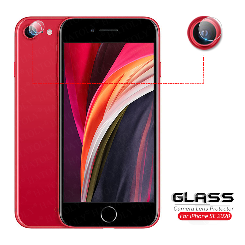 2Pcs For Glass IPhone SE 2020 Camera Lens Protector For IPhone SE2 SE 2 Camera Glass Protective HD Back Film For IPhone SE 2020