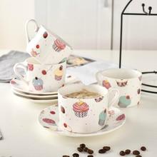 Северная Европа оригинальная керамическая кофейная чашка блюдца костюм западный ресторан послеобеденный чай кофейная чашка молочная чашка для завтрака Copo