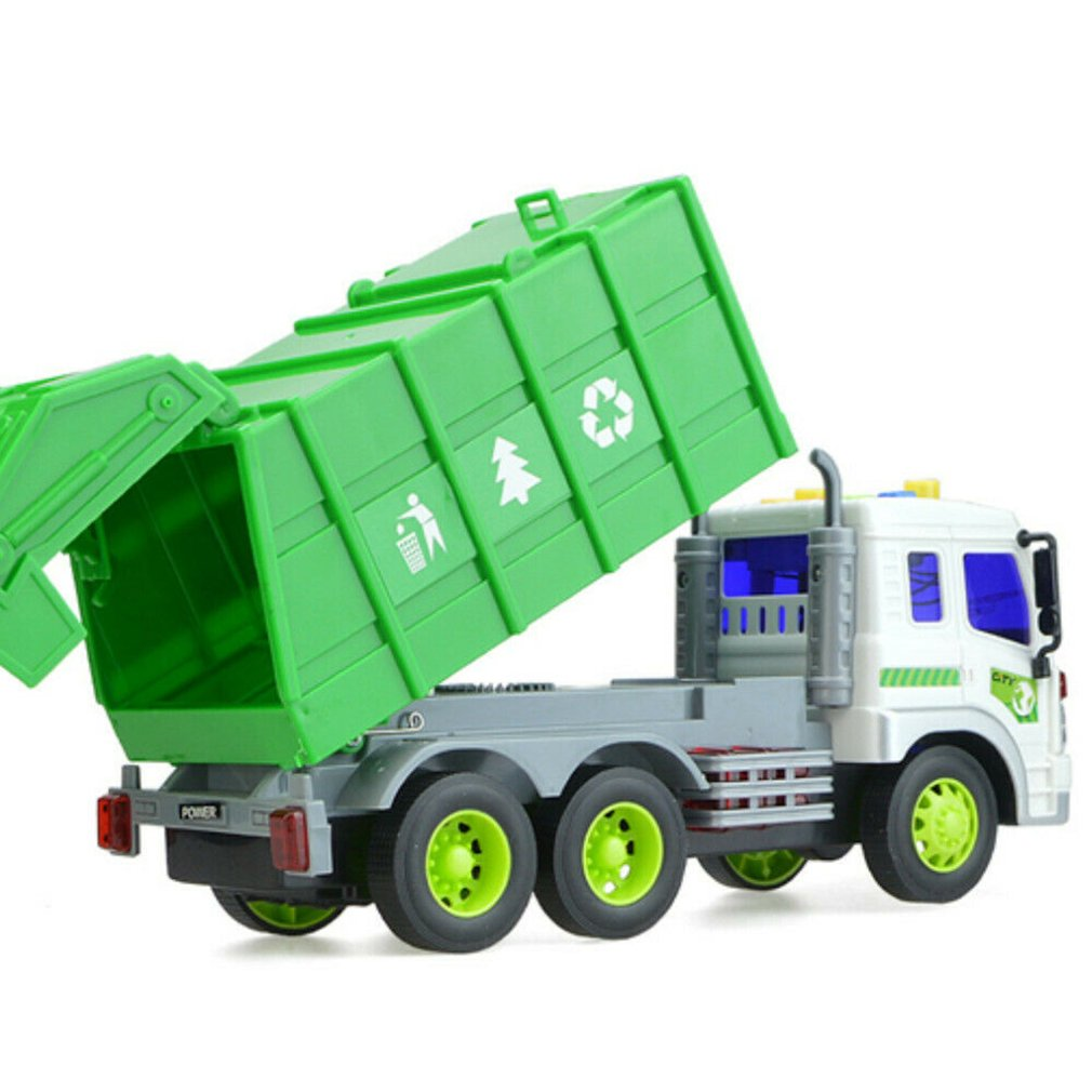 caminhão luz & som lixo reciclagem brinquedo