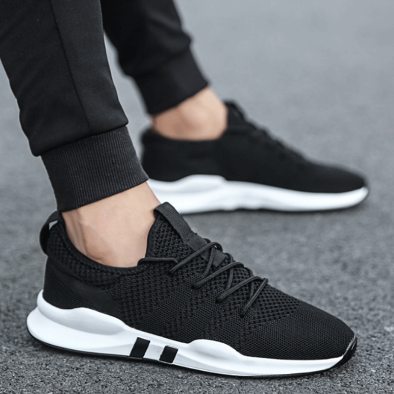 VIERUODIS Spring Autumn Fashion Mens Casual Shoes Lace-Up Breathable Shoes Sneakers Mens Trainers Zapatillas Hombre Sneakers Men