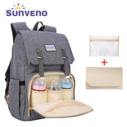 SUNVENO Neue Mode Windel Tasche Rucksack Große Kapazität Baby Tasche Windel Tasche für Baby Pflege