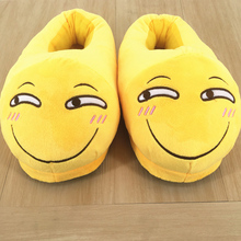 Winter Indoor Warm Slippers Flat Furry Home Cartoon Women emoji Plush Slippers unisex Couple Animal Warm Non-slip Shoes mntrerm 2018 cute mouse animal prints home comfortable indoor home practical plush non slip fleeces warm slippers women