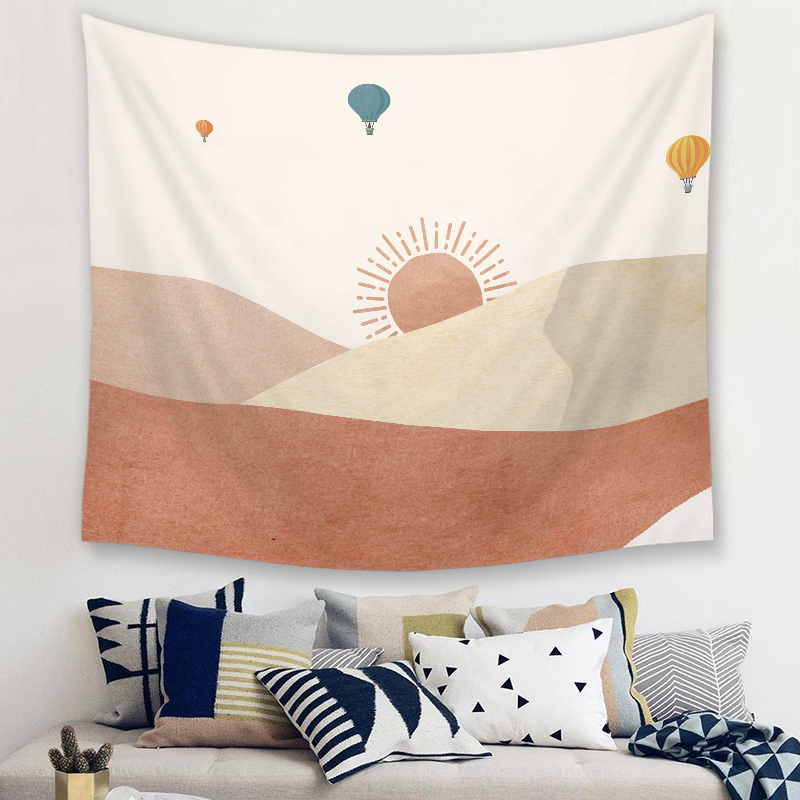 Landscape Print Tapestry Wall Hanging Desert Camel Pattern Polyester Lving Room Carpet Home Decorative Tapestry Wall Fabric