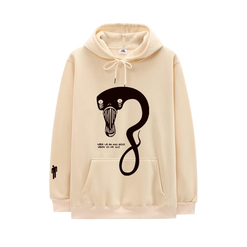 Casual Hoodie Men Women Billie Eilish Hoodie Hip Hop Hooded Sweatshirt WHEN WE ALL FALL ASLEEP WHERE DO WE GO Letter Print Hoody