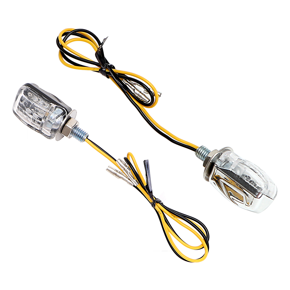 LEEPEE 12V Indicator Blinker A Pair Indicators 6 LED Amber Mini Turn Signal Light  Motorcycle Bike