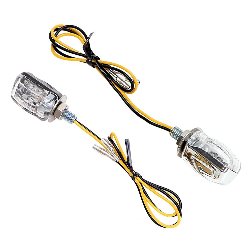LEEPEE 12V Indicator Blinker A Pair Indicators 6 LED Amber Mini Turn Signal Light  Motorcycle Bike