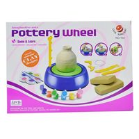 Mini DIY Ceramic Handmade Pottery Wheel Machine Kids Boys Girls Clay Arts Crafts Toys Gift 72XC