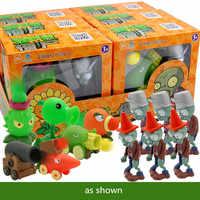 Подлинные Растения против. Игрушки-зомби 2 полный набор мальчиков большой выталкивание мягкий силиконовый аниме FigureChildren куклы с коробкой