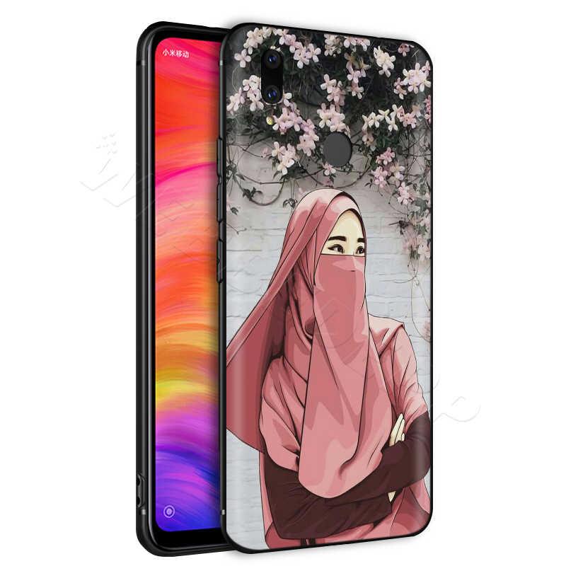 חמוד מוסלמי אסלאמי ילדה מקרה עבור Xiaomi Redmi 4A 4X5 5A 6 6A 7 7A S2 הערה ללכת k20 פרו בתוספת ראש 8T