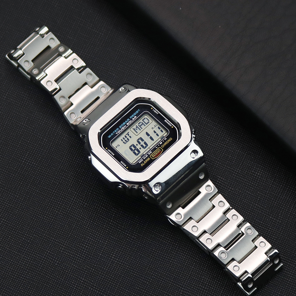 316L Stainless Steels Watch Strap For Casio G-shock DW-5600 GW-5600 DW5000/5035 Watch Case Bezel For Casio GW-M5610 Watch Band