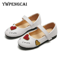 YWPENGCAI 2019 Spring Autumn Children Soft Leather Shoes For Girl