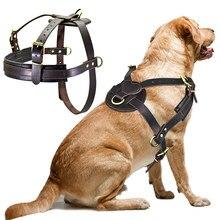 Ботинки из мягкой кожи большие собаки жгут для средних и больших собак защитный чехол для телефона Регулируемая шлейка для питомцев жилет б...