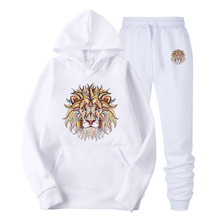 New 2019  Hoodie Colored lion head Print Hooded Women Men Sweatshirt Clothes Harajuku Casual Hot Sale Hoodies Sweatshirts