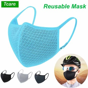 Tcare Men Women Dustproof Face Mask Adjustable Breathable Mesh Reusable Washable Mouth Masks Cycling Rider Camping Travel