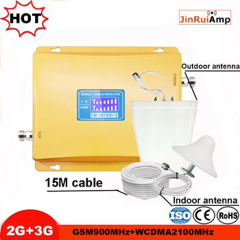 HOT LCD Display 3G W-CDMA 2100MHz GSM 900Mhz Dual Band Cellular Signal Booster GSM 900 2100 UMTS Signal Repeater GSM Amplifier
