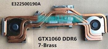 New Original Laptop CPU/GPU cooling Radiator heatsink&Fan for MSI GE63 GE63VR 7RE Raider GTX1060M 1060 7-Brass  E322500190A