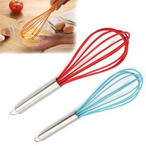 Multifunction Durable Silicone Handle Plastic Hand Egg Beaters Egg Stirring Whisk Rotary Kitchen Gadgets Accessories