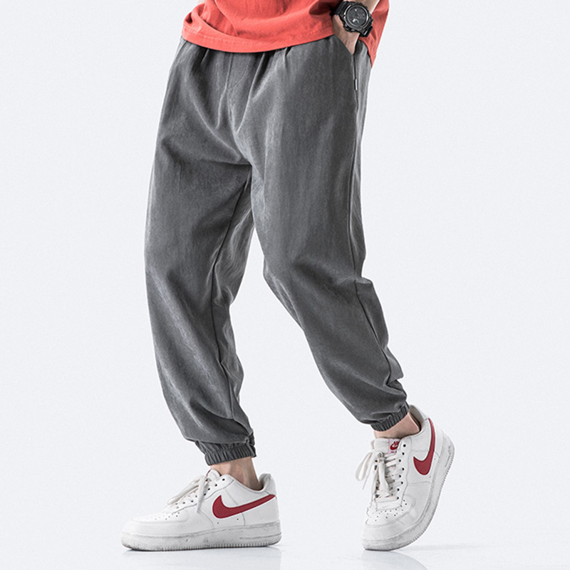 Streetwear Casual Joggers Men 2020 Spring Summer Harem Men Pants Solid Ankle-length Trousers Men