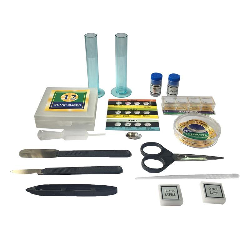 home improvement : 1200X Illuminated Present Microscope Zoom Monocular Biological Microscope Present Gift Educational Toy Microscope Metal Body