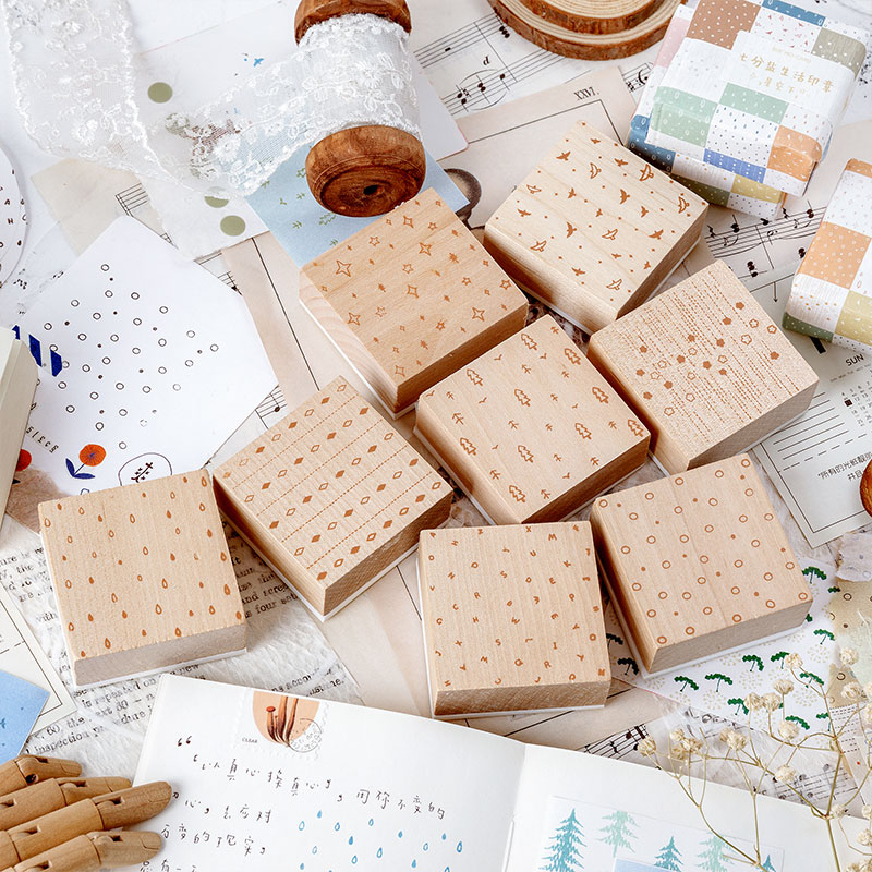 1pc Vintage Salt Life Series Wood Stamp DIY Craft Wooden Rubber Stamps For Scrapbooking Stationery Scrapbooking Standard Stamp