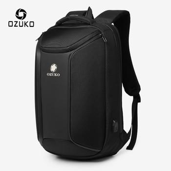 цена на OZUKO Anti-theft Men Backpack Large Capacity 15.6 inch Laptop Backpack Mens Waterproof Backpacks USB Charging Male Travel Bag